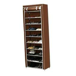 Function Home 10-Tier Shoe Rack with Dustproof Cover 30 Pair