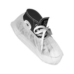 Heavy Duty Poly Coated PPSB Shoe Covers, Disposable, White,