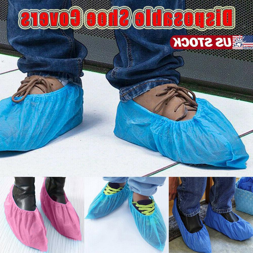100 200pcs disposable shoe covers non woven