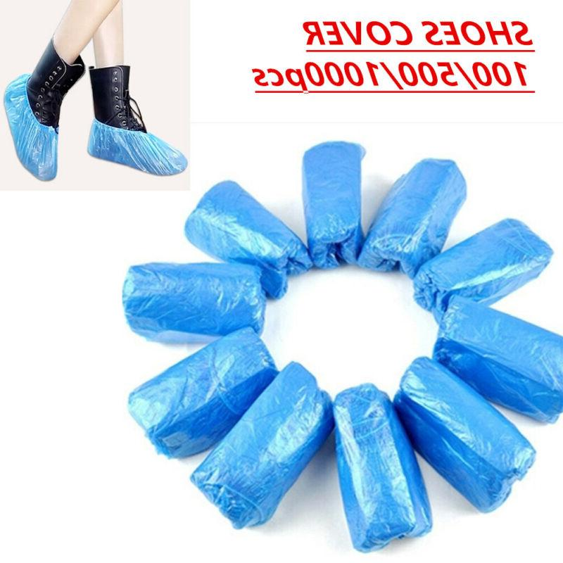 100 500 1000pcs disposable blue shoe cover