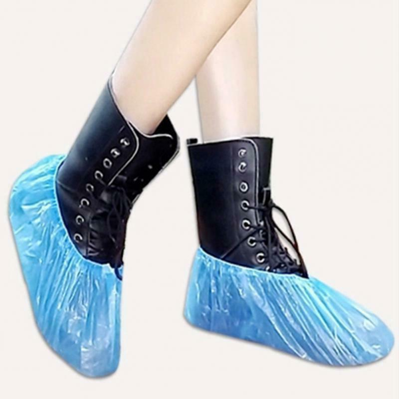 100 disposable shoe and boot covers waterproof