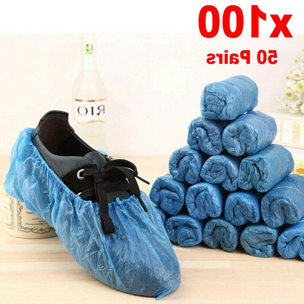 100 disposable shoe covers waterproof overshoes protector