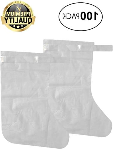 100 Pack of Disposable LDPE Covers XL Heavy-Duty