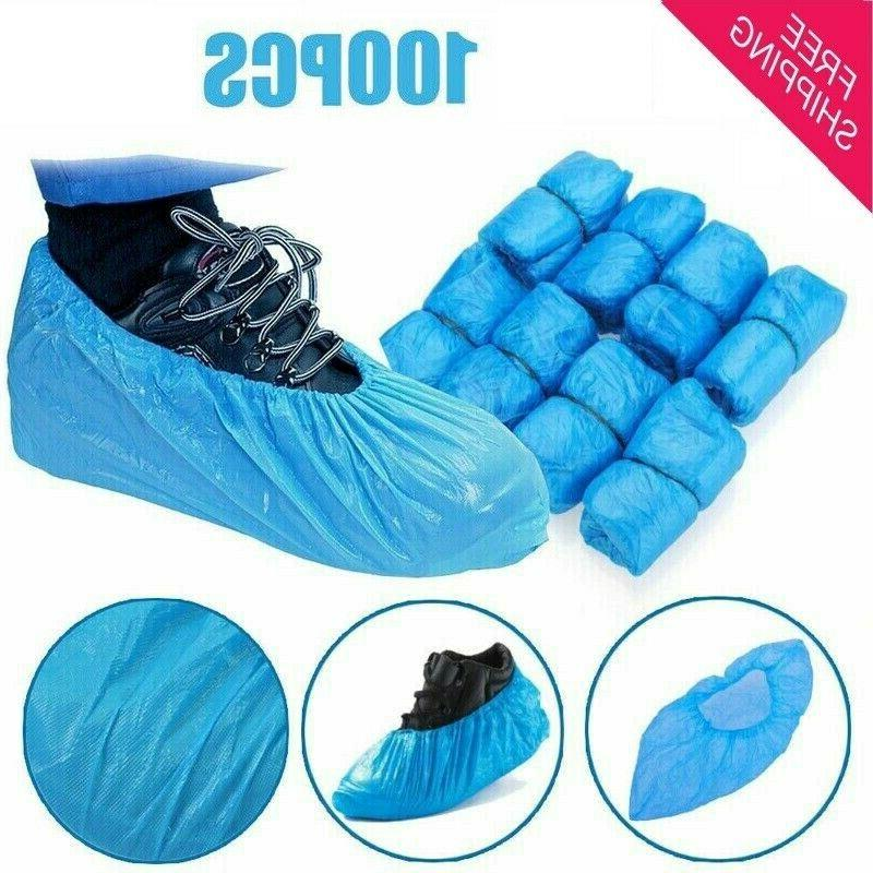 100 pack shoe boot covers disposable 50