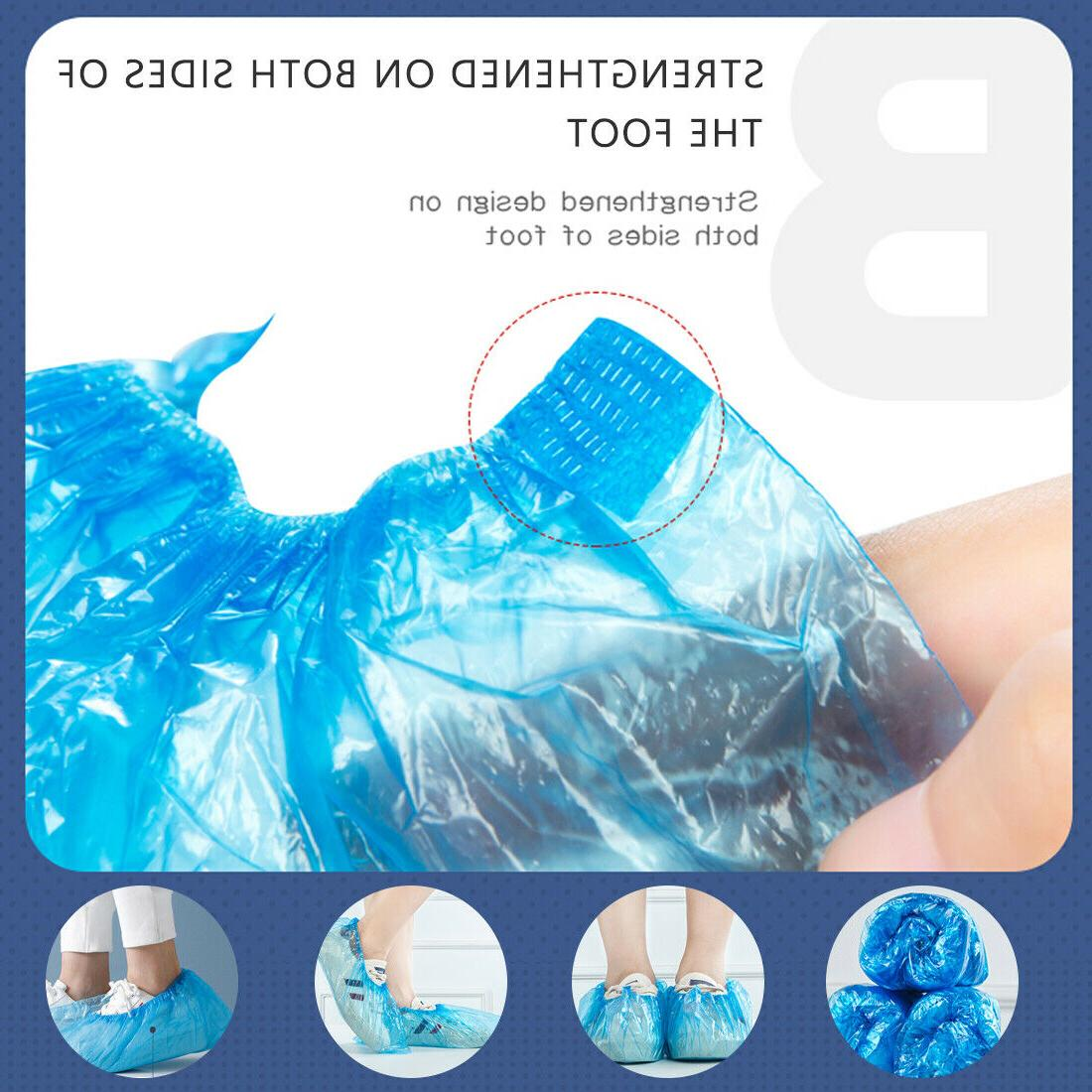 100 Covers Disposable Shoe Elastic Protect Overshoes