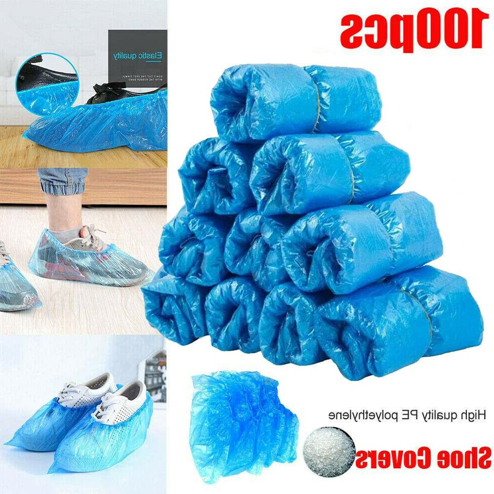 100Pcs Disposable Anti Slip Boot Shoe Covers Overshoes Prote