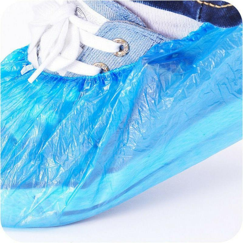 100 Plastic Shoe Cleaning Overshoes Protective Dustproof