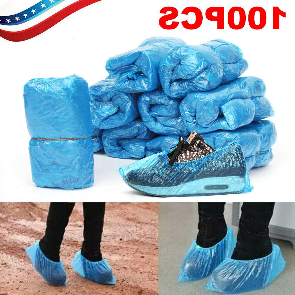 100pcs disposable plastic shoe covers cleaning overshoes