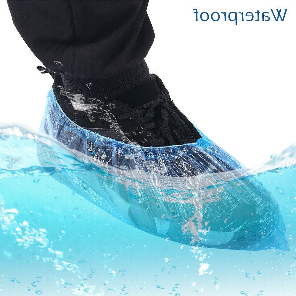 200Pcs Disposable Shoe Dust Covers Pouch Plastic Waterproof