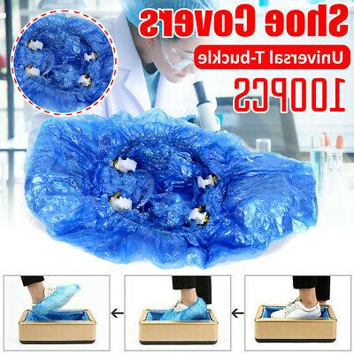 100x disposable shoe covers t buckle