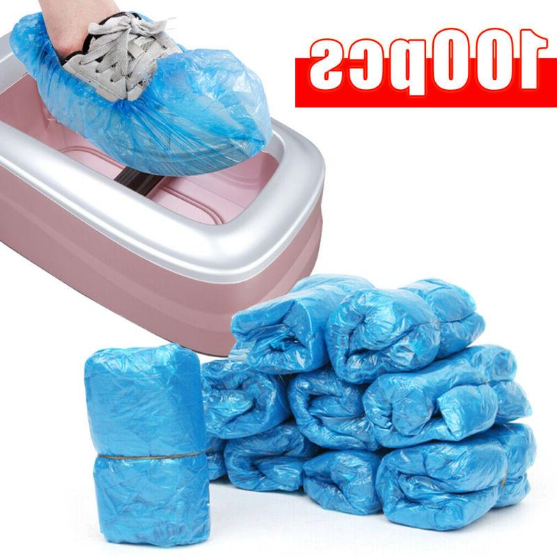 100x disposable shoe covers universal t buckle