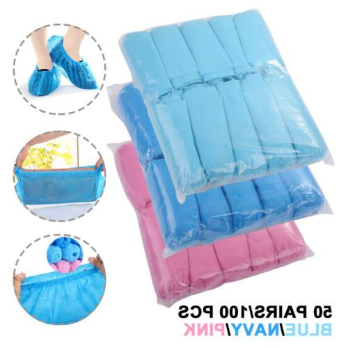 100X Shoes Covers Dustproof Anti Slip Foot Covers 3 Colors