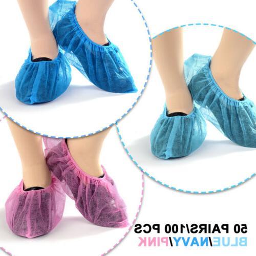 100x disposable shoes covers dustproof anti slip