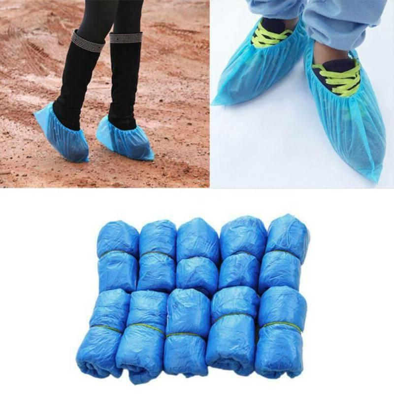 100~400 PCS Plastic Boot Shoe Covers  Disposable Overshoes P
