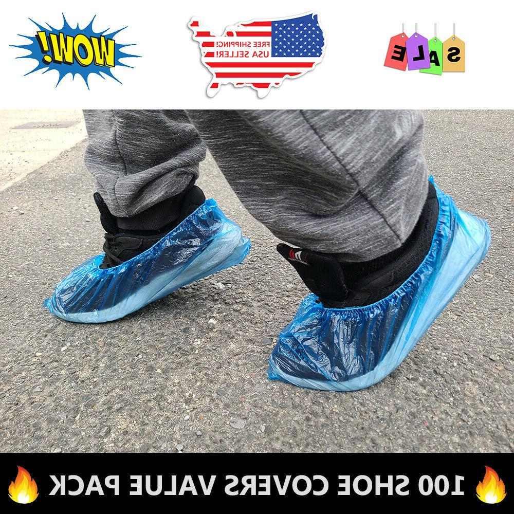 100x Waterproof Boot Covers Protector SHIP