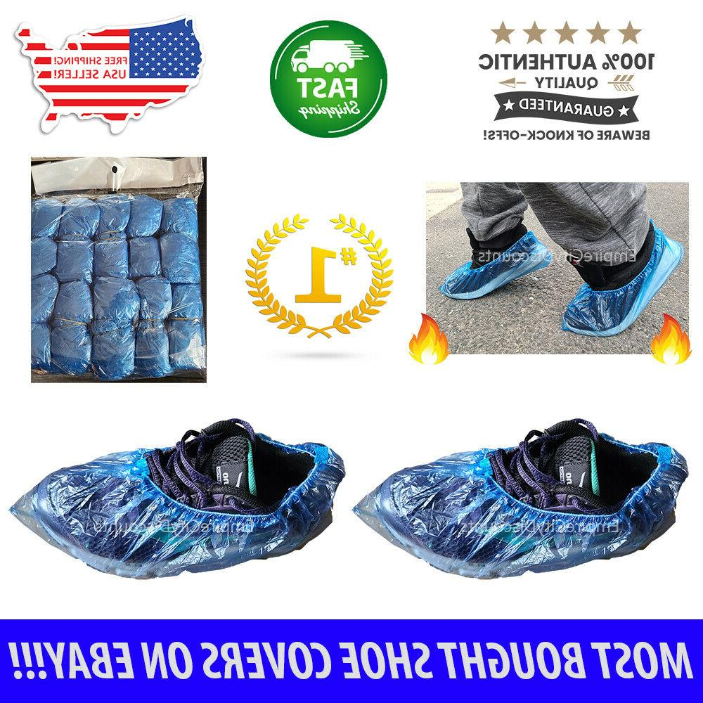 100x waterproof boot shoe covers plastic disposable