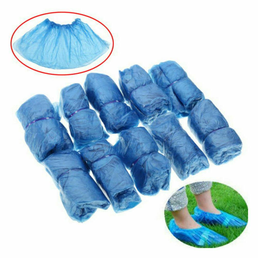 100x Waterproof Covers Plastic Overshoes Protector USA SHIP