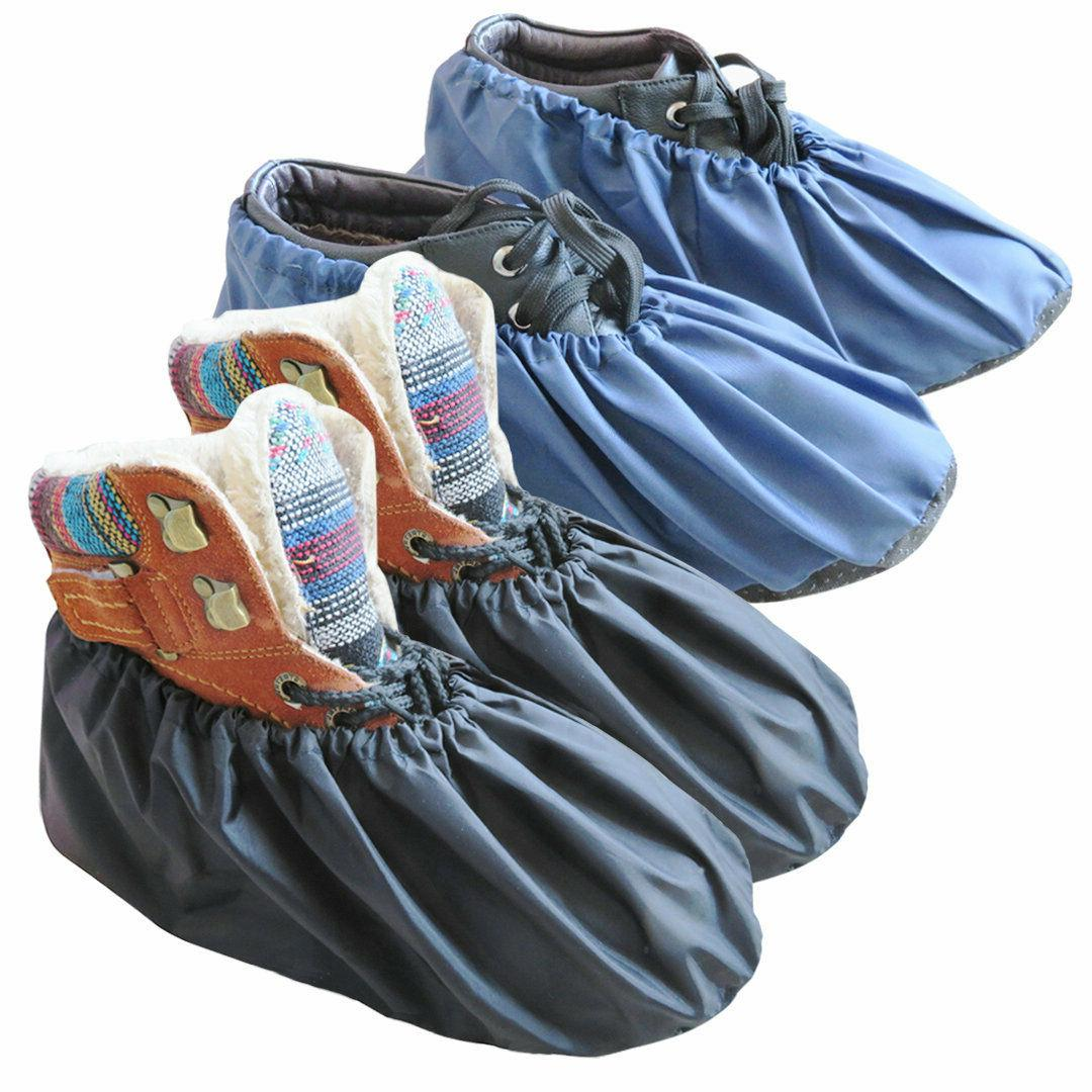 2 pairs waterproof shoe covers washable reusable