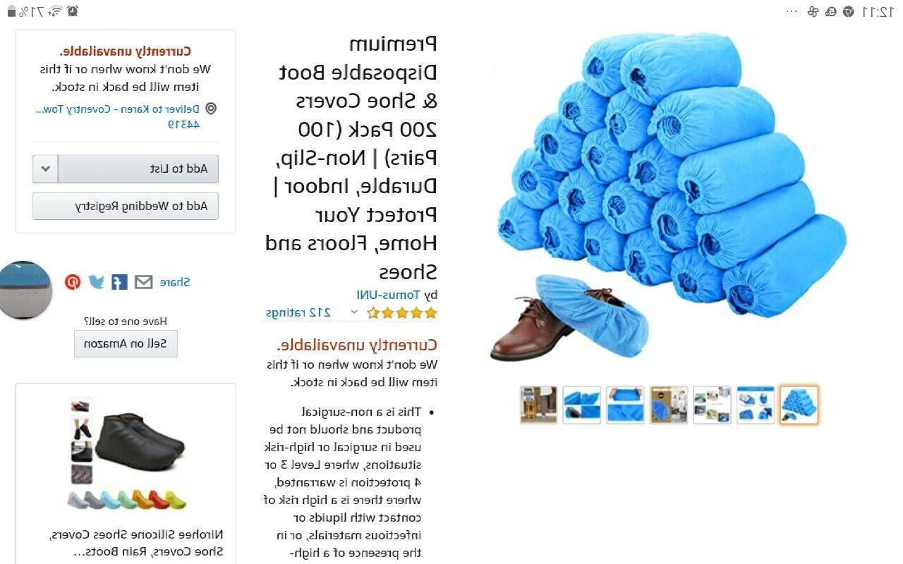 200 pack premium dispose hygienic shoe covers