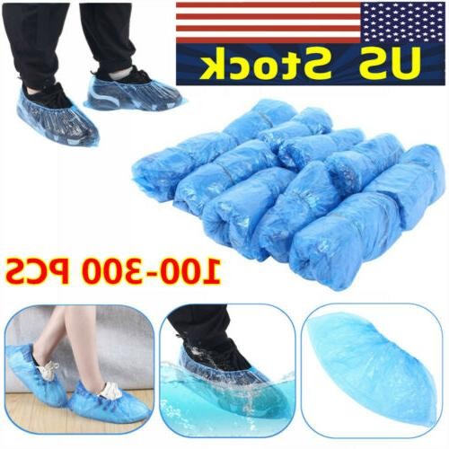 200x disposable boot shoe covers pe non