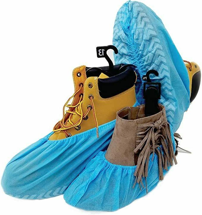 20pc premium disposable boot shoe covers water