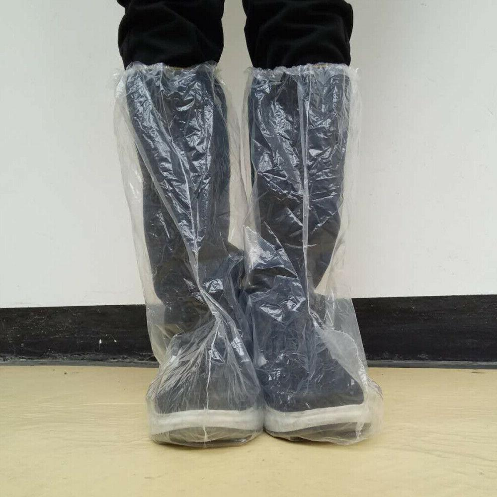 5 pairs non slip disposable overshoes boot