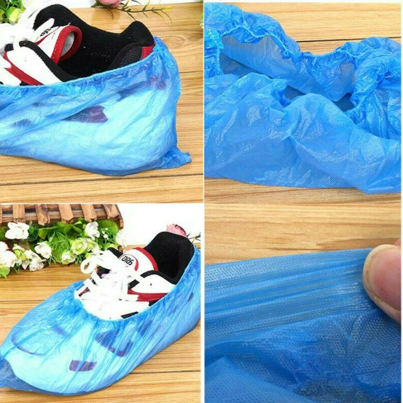 500PC/250 Pair Boot Shoe Covers Plastic Disposable Overshoe
