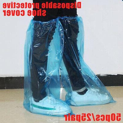 50pcs 25pair disposable shoe cover pvc waterproof