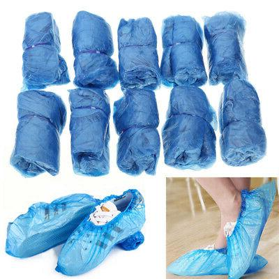 Plastic Overshoes Floor Boot Protector Cover Blue