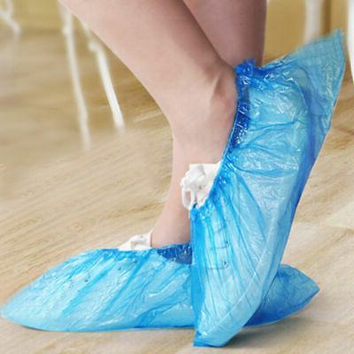 50Pcs Plastic Shoe Blue Shoe Covers Boot