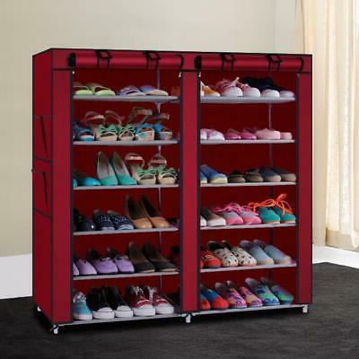 6 Tier Shoe Rack Closet w/Cover