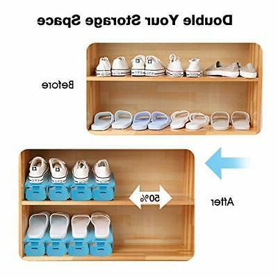 AQUAPRO Shoe Slots Adjustable Shoe Space Saver,