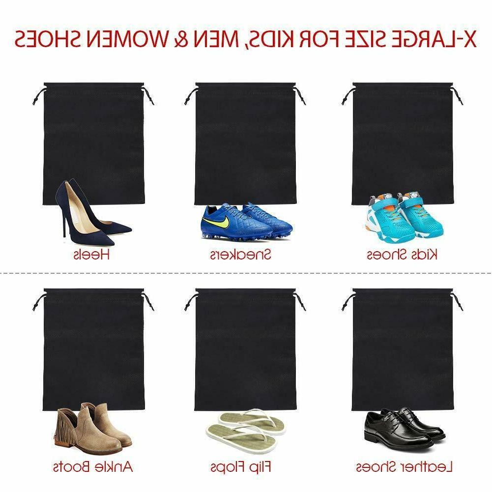24pk Black Travel Shoe Covers Pouch