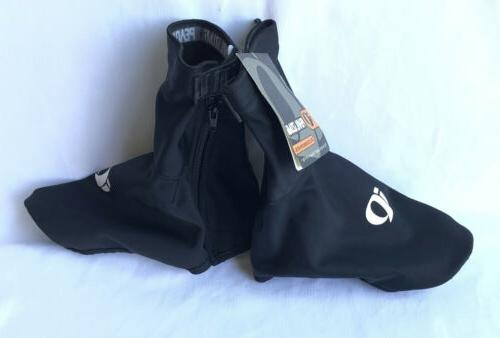 black shoe covers side zip one size