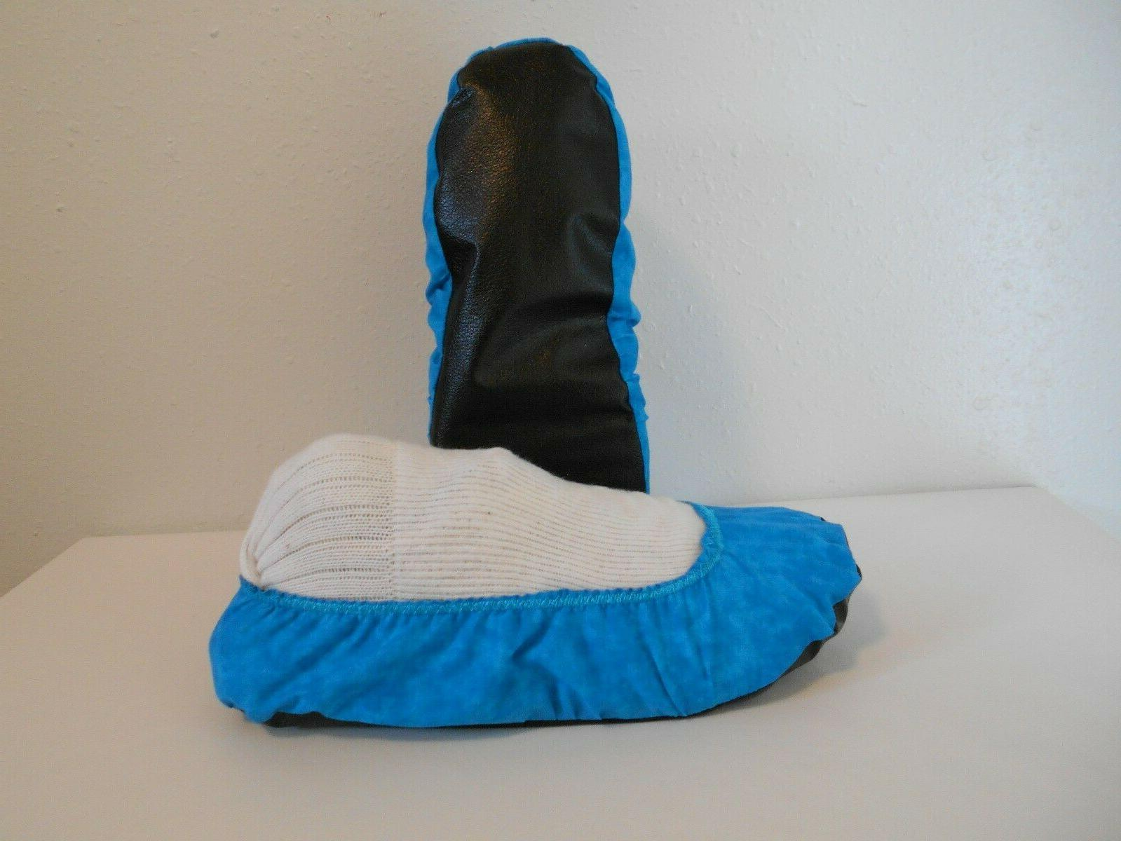 bowling shoe covers bright teal blend women
