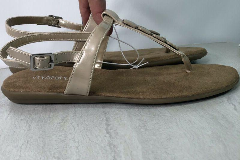 Champaign Thong T Strap Sandals 8