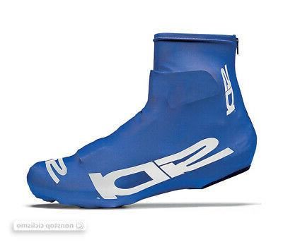 chrono lycra aero cycling shoe covers blue