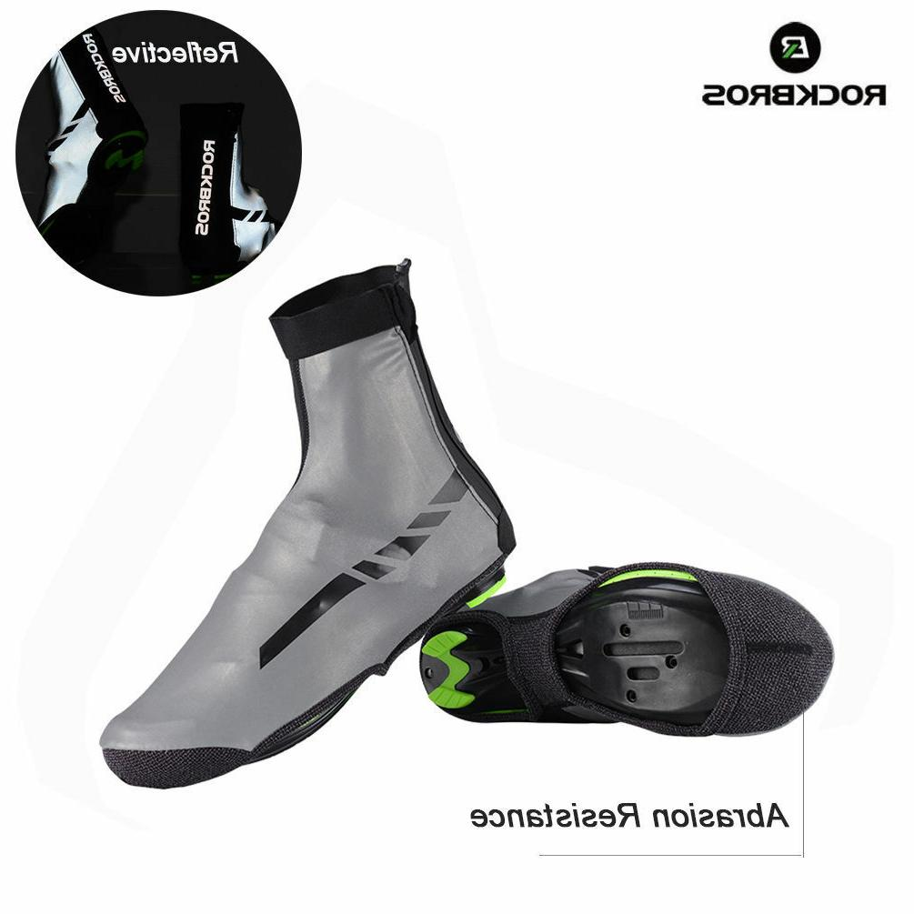 cycling reflective shoes covers winter warm overshoes