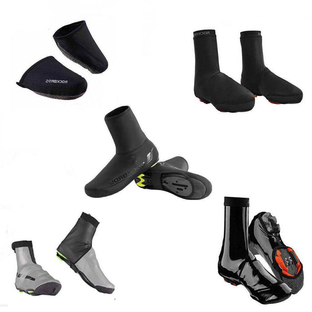 cycling shoe covers winter warm waterproof black