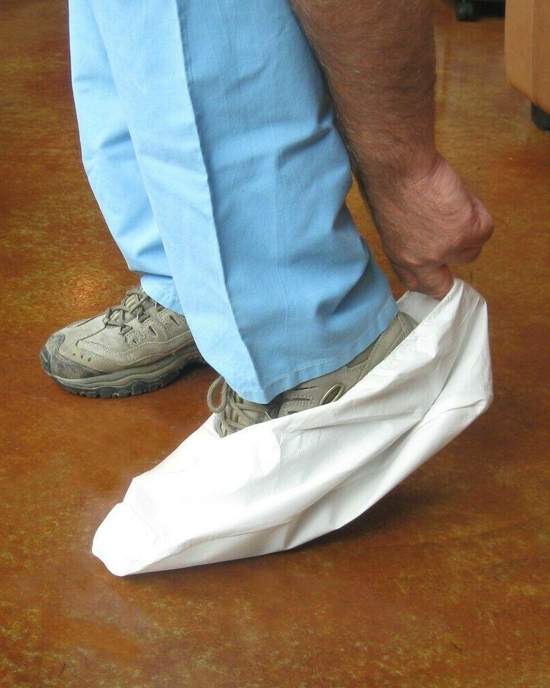 disposable shoe covers white 200 pair xl