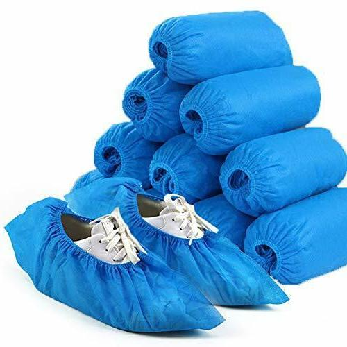 jeisslia disposable shoe covers 100pcs non slip