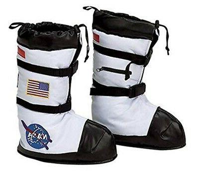 nasa astronaut boots in white usa costume