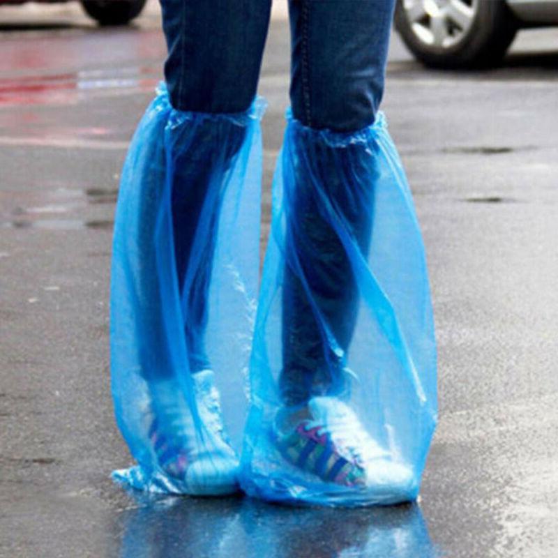 disposable high top protector waterproof rain shoe
