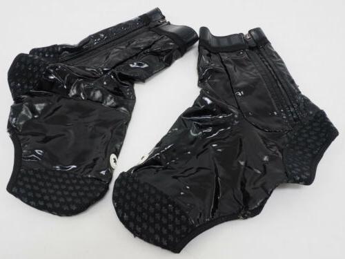 rain bootie cycling shoe cover black size