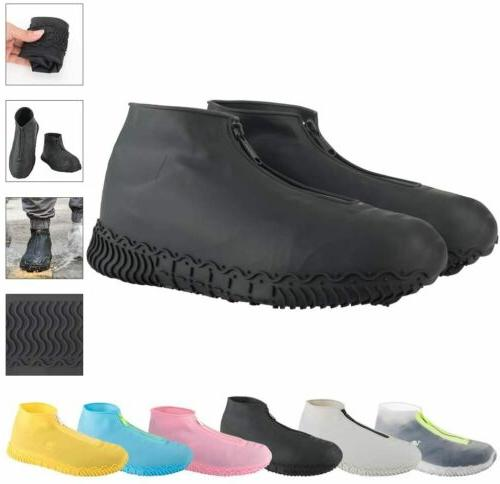 Waterproof Zipper Shoe Covers Silicone Case Rain Boot Reusab