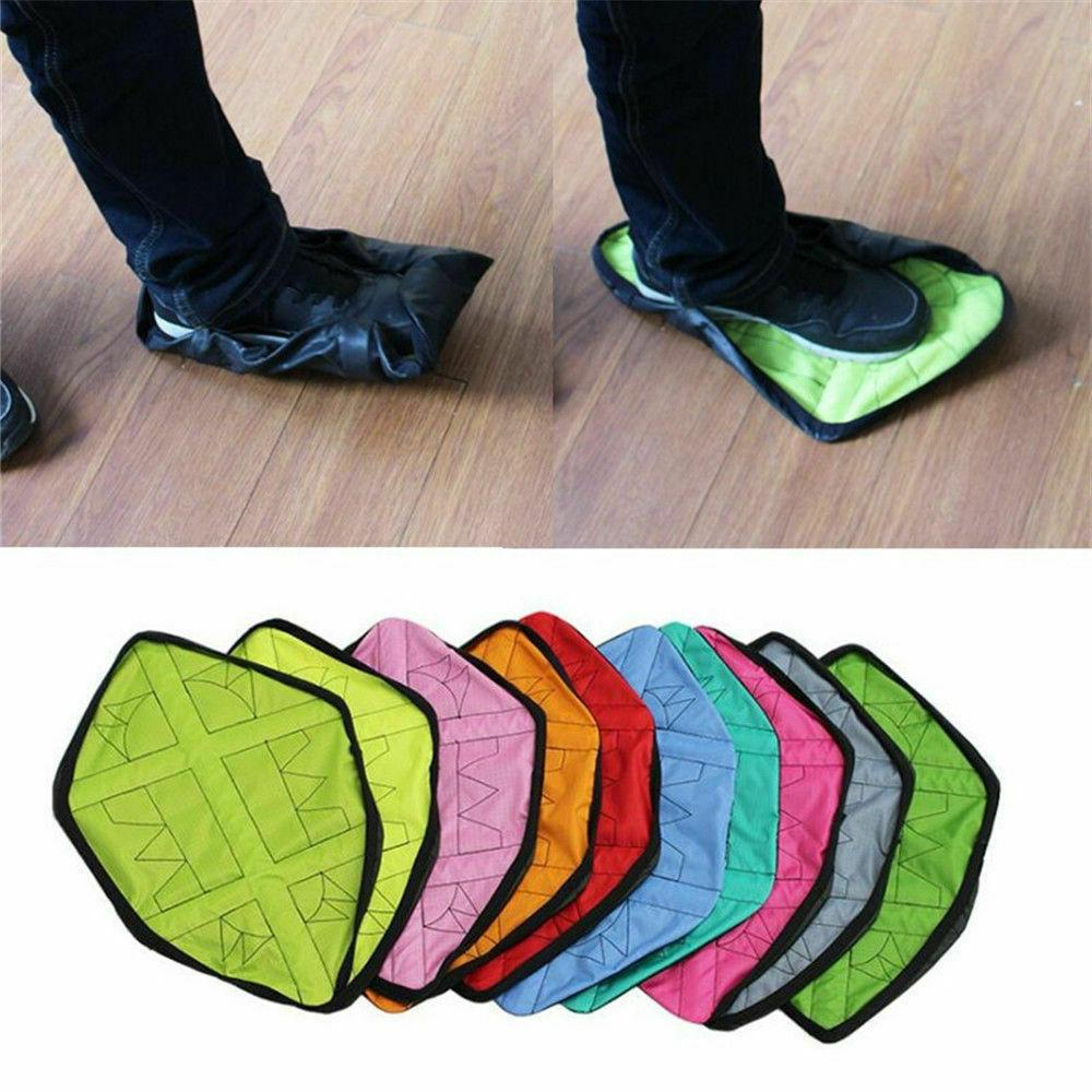 reusable step in sock hands free shoe