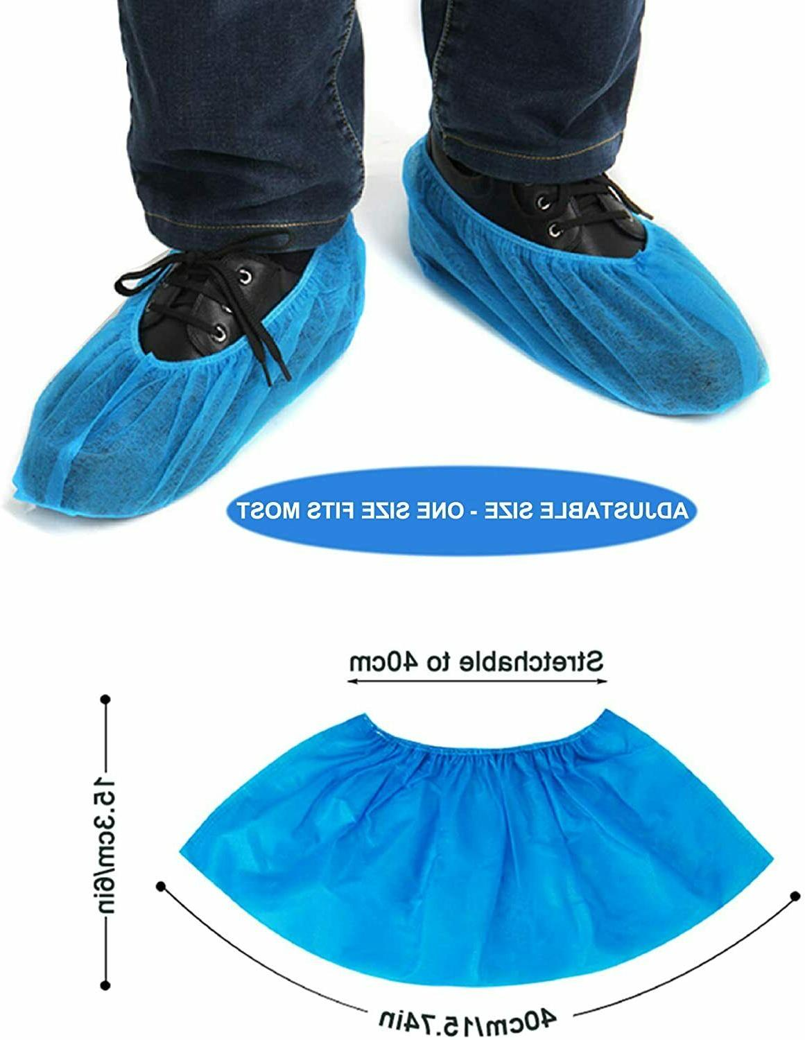 Shoe Covers Pieces/50 Pairs Disposable Size Large Fits