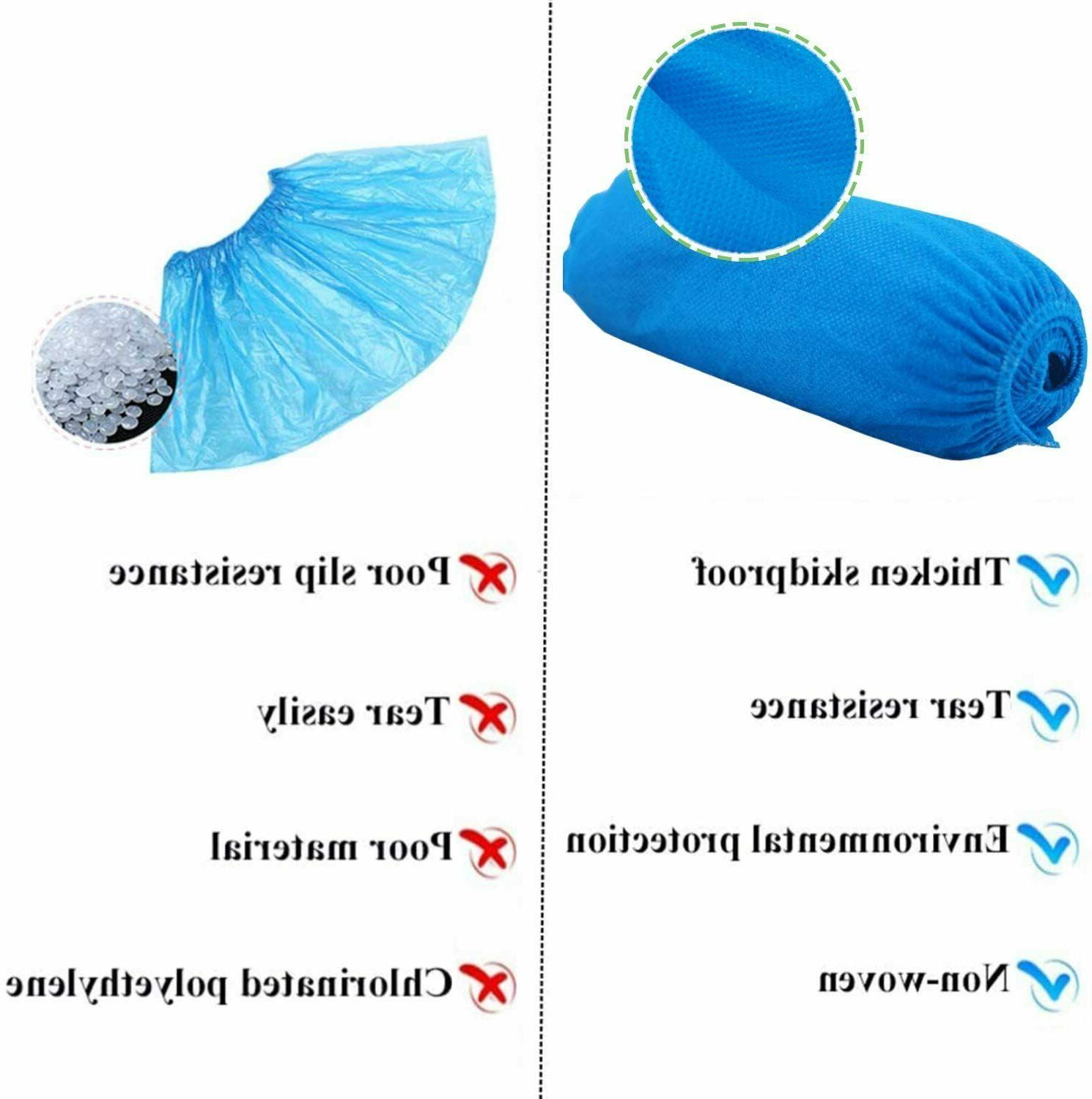 Shoe Covers Pieces/50 Pairs Disposable Blue, Size Large Most
