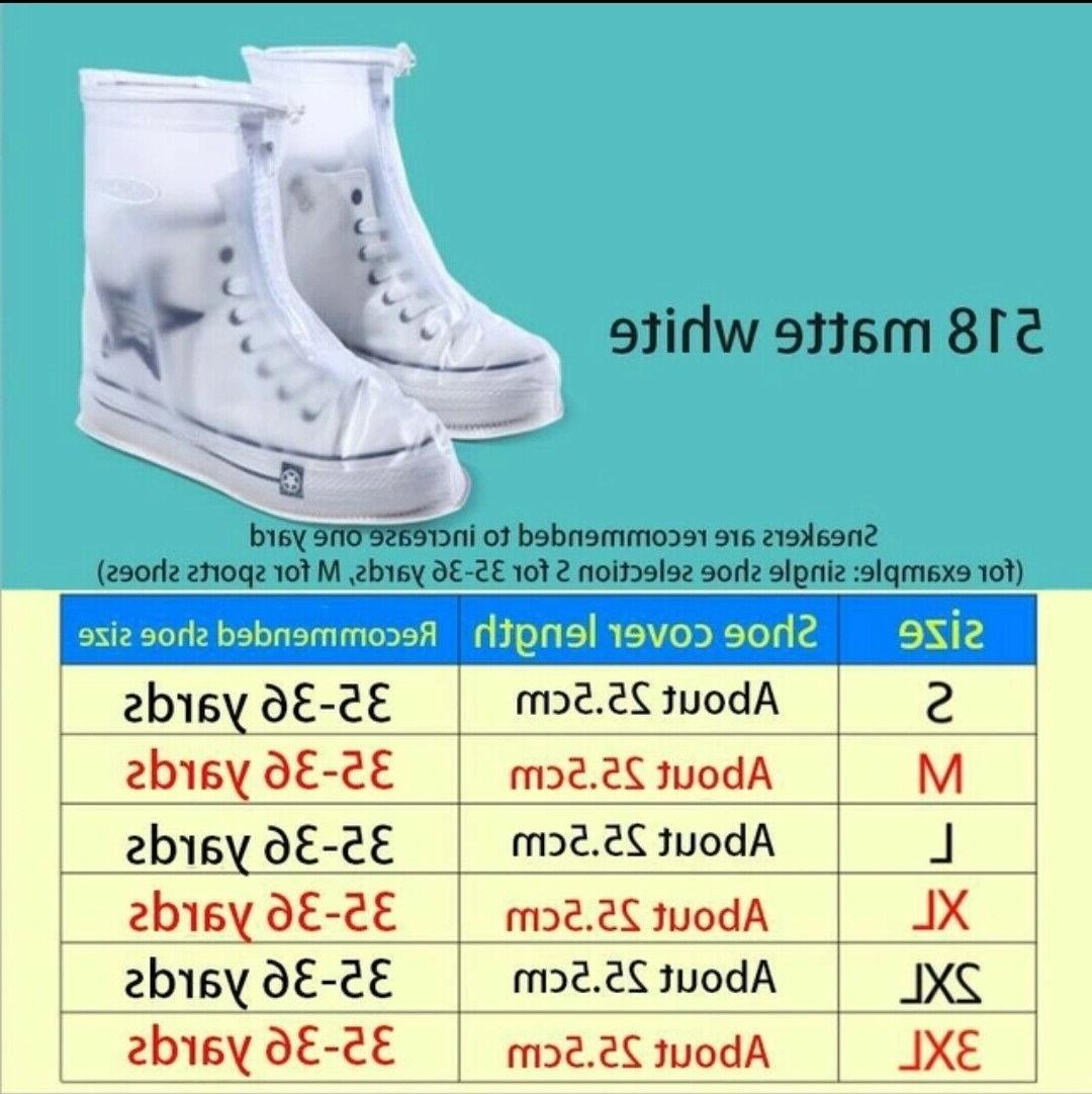 Shoe Covers Rain Anti-slip Shoes Overshoes Boots US