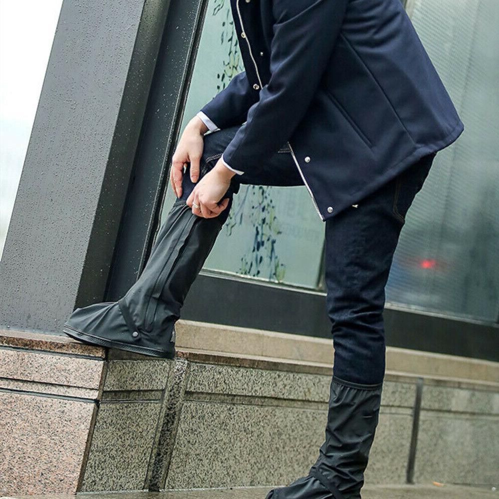Rain Shoe Cover Waterproof Rain Boot High-Top Overshoes